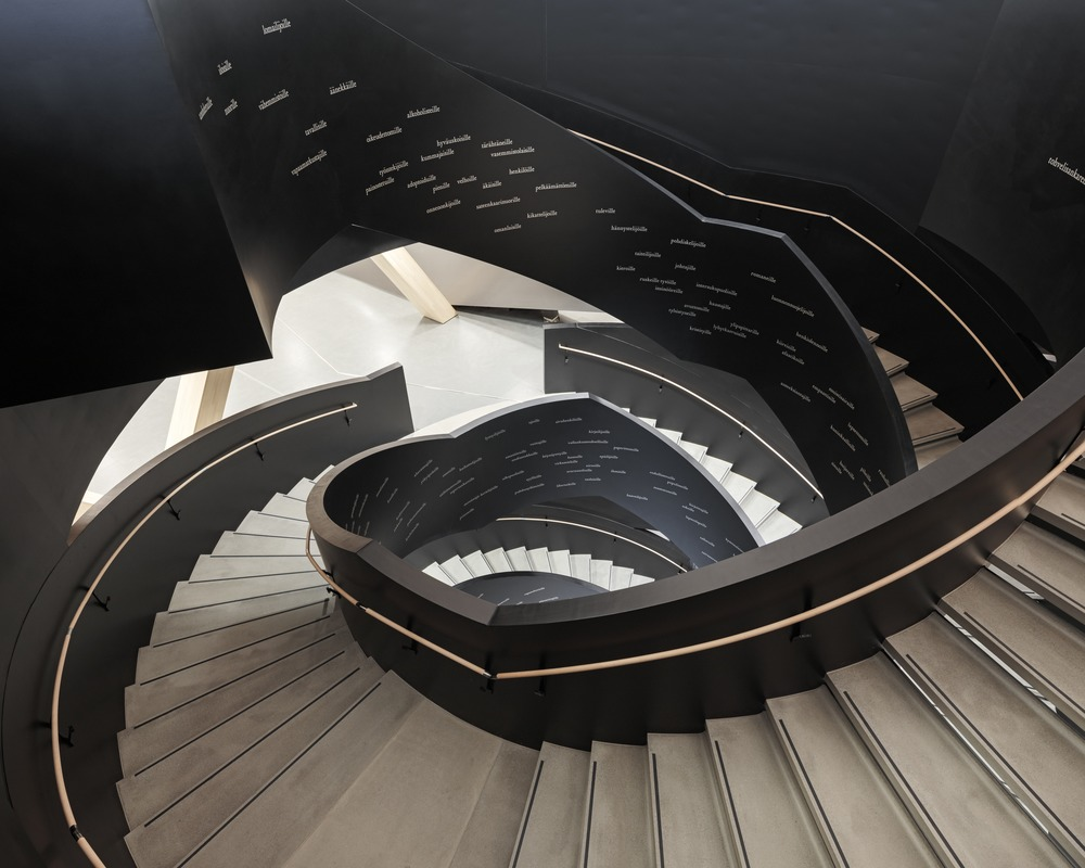 Oodi Helsinki Central Library Main Stairs photo Tuomas-Uusheimo
